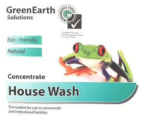 house wash front sticker with frog