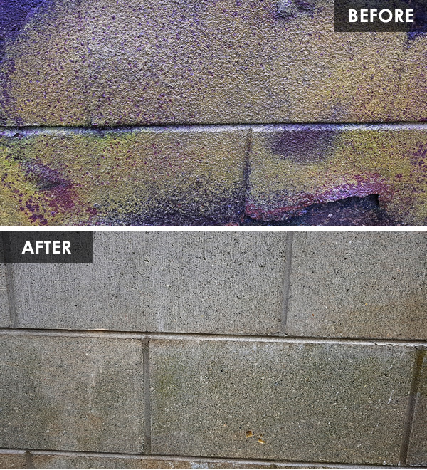 water blasting before and after